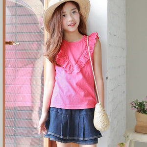 3-15Y Girls Pink Blouse G21041J