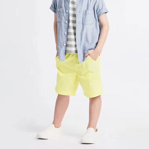 3-12Y Boys Yellow Short Pants A10313H