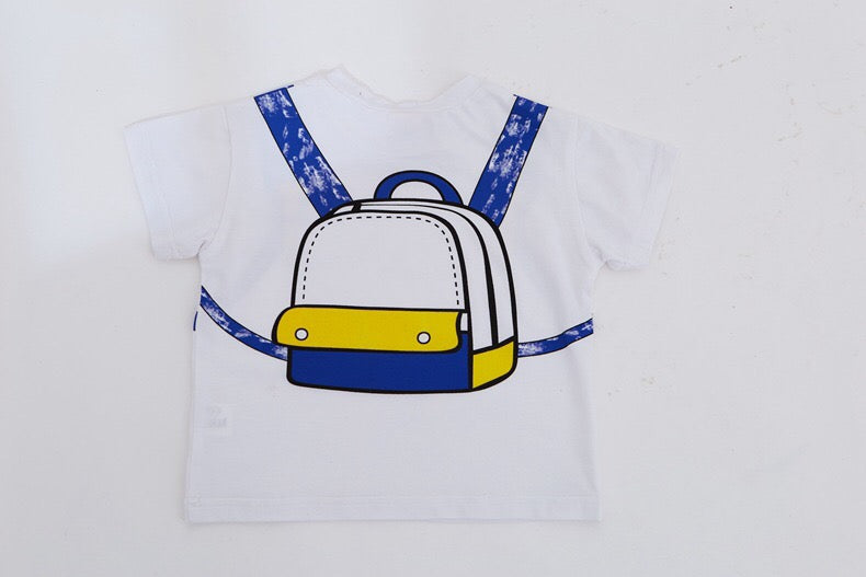 1-6Y Kids Backpack White Shirt A10423J