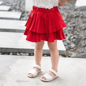1-5Y Girls White Blouse A20211M / Red Skirt A2046I