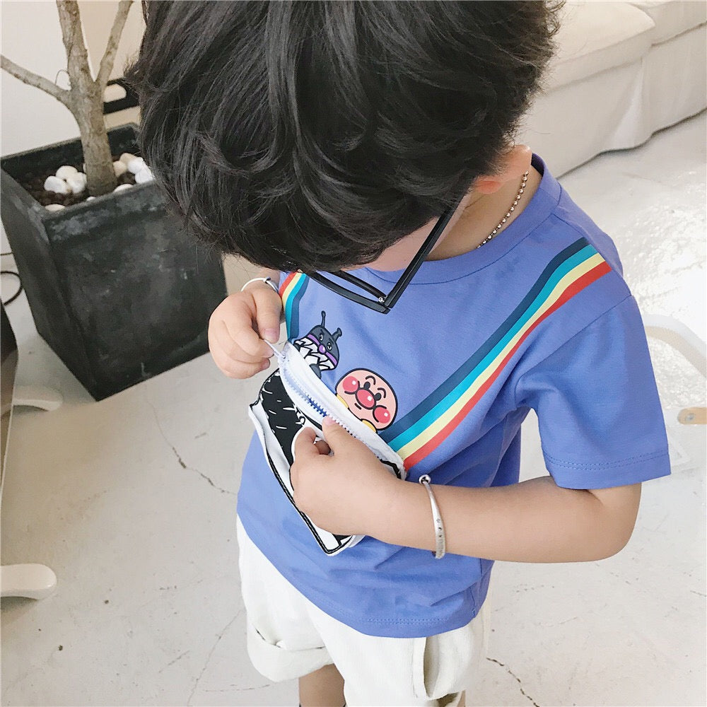 1-7Y Kids Camera Pouch Short-Sleeves Shirts A10425J