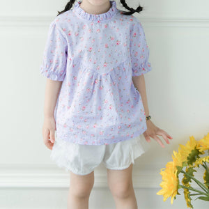 1-6Y Girls Floral Top and Bottom 2pcs Set G20124M