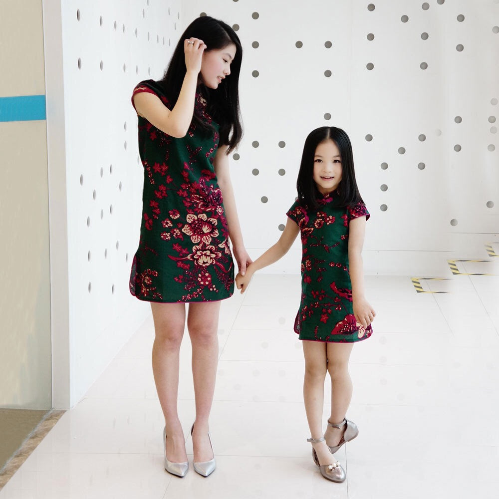 2-15Y Kids Cheongsam Dress A200C66A (Mother sizes available)