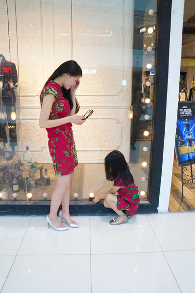 2-15Y Kids Cheongsam Dress A200C66B (Mother sizes available)