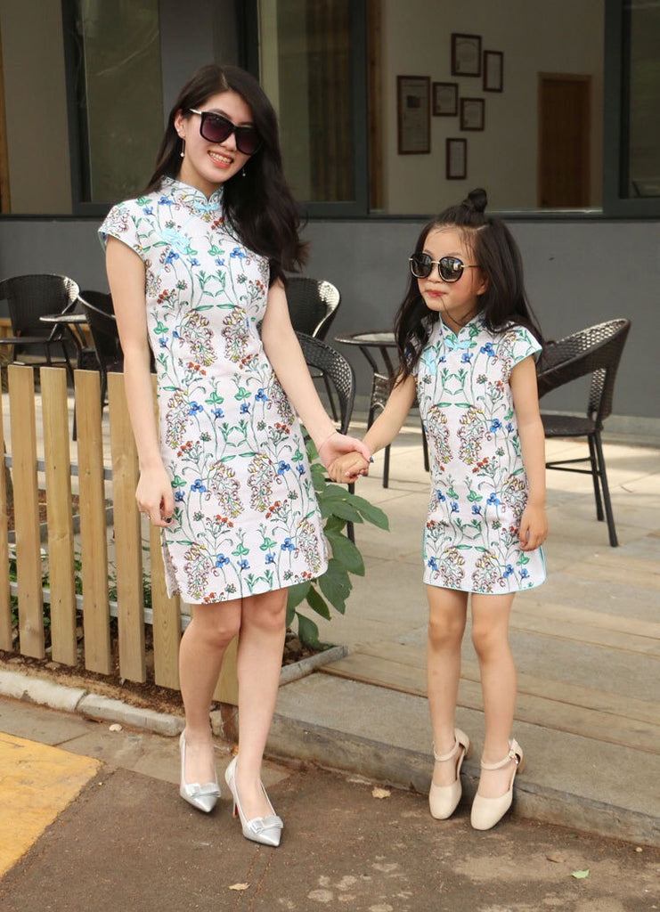 2-15Y Kids Cheongsam Dress A200C66E (Mother sizes available)