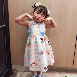 2-10Y Girls Cartoon Cheongsam Dress A200C68A