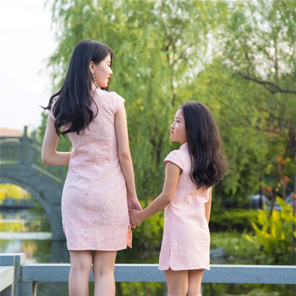 2-15Y Kids Cheongsam Dress A200C66G (Mother sizes available)
