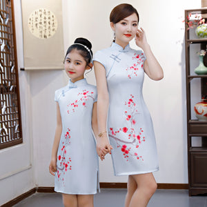 2-15Y Kids Cheongsam Dress A200C66I (Mother sizes available)