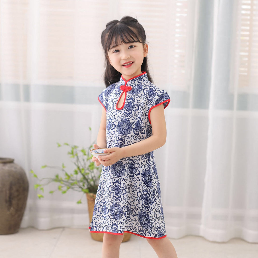 2-8Y Girls Cheongsam Dress A200C65A