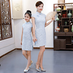 2-15Y Kids Cheongsam Dress A200C66K (Mother sizes available)