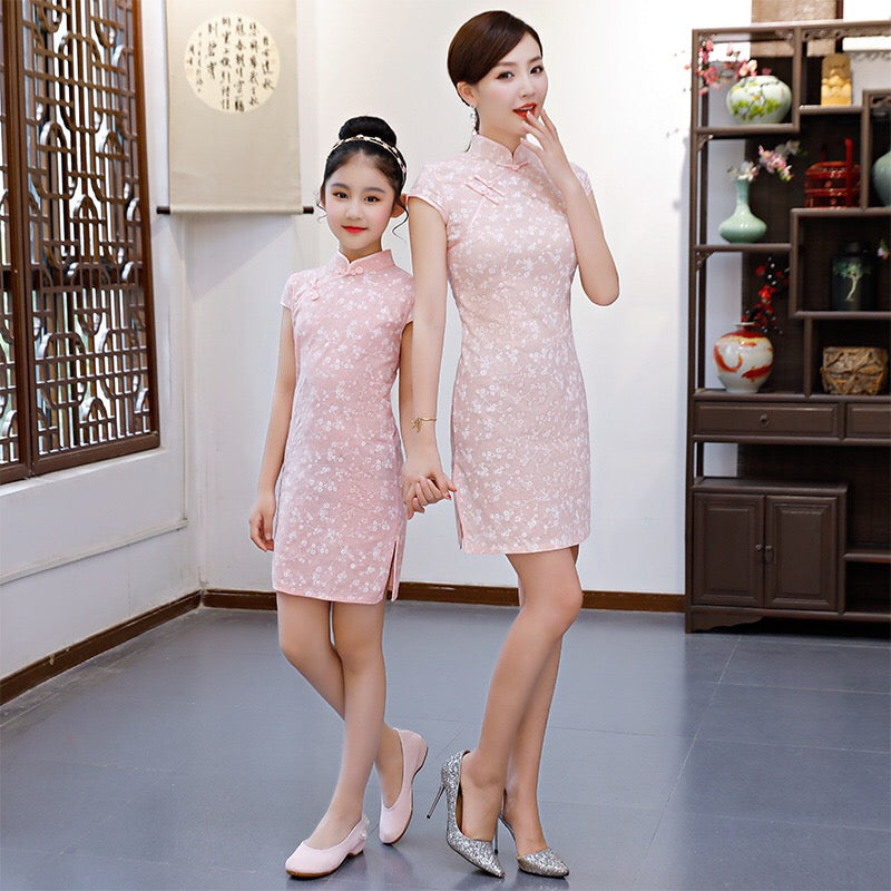 2-15Y Kids Cheongsam Dress A200C66J (Mother sizes available)