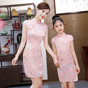 2-15Y Kids Cheongsam Dress A200C66L (Mother sizes available)