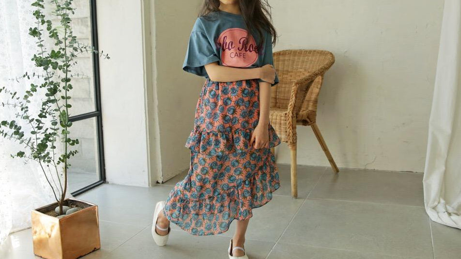 3-15Y Girls Top G21033M / Long Skirt G21033N (Mother sizes available)
