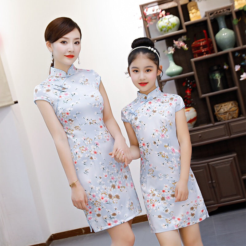 2-15Y Kids Cheongsam Dress A200C66M (Mother sizes available)