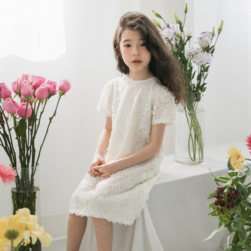 3-15Y Girls White Elegant Dress G21033K (Mother sizes available)