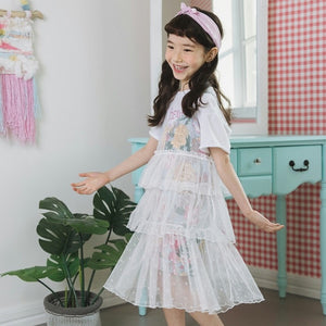 3-15Y Girls Tulle Layers Dress G21033L
