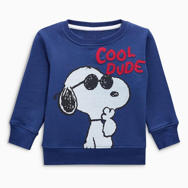 2-7Y Boys Jumping Beans Snoopy Sweater A10421E