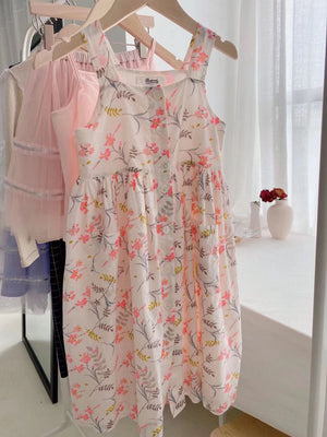 3-15Y Girls France Floral Long Dress G20133G