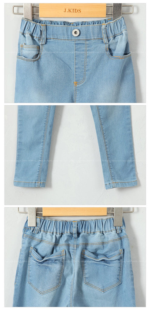 3-15Y Girls Light Blue Denim Jeans A2045D (Mother size available)