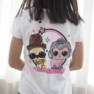 Girls Short-Sleeves Front and Back Shirt A20216H