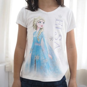 Girls Short-Sleeves Front and Back Shirt A20216I