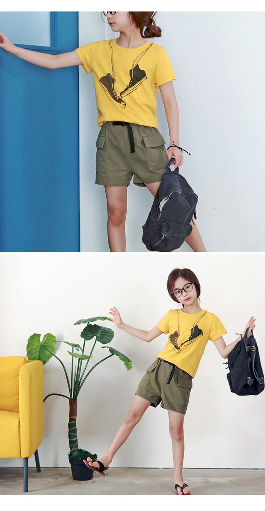 3-15Y Kids Khaki Shorts G21034F (Mother size available)