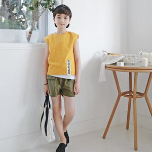 3-15Y Kids Khaki Shorts G21034F