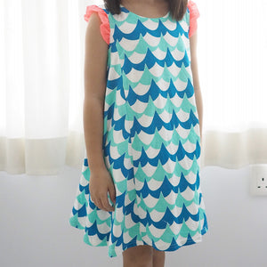 2-10Y Girls Korea Pattern Dress A20134I