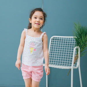 1-7Y Bebezoo Girls Top and Bottom 2pcs Set K20121J