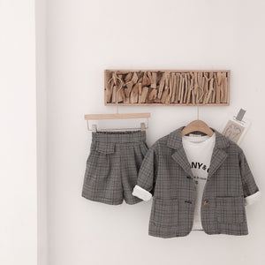 2-7Y Kids Unisex Blazer and Bottom 2pcs Set G20511C