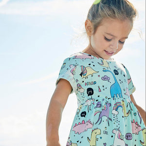 1-6Y Girls Jumping Meters Unicorn Dress A20141H