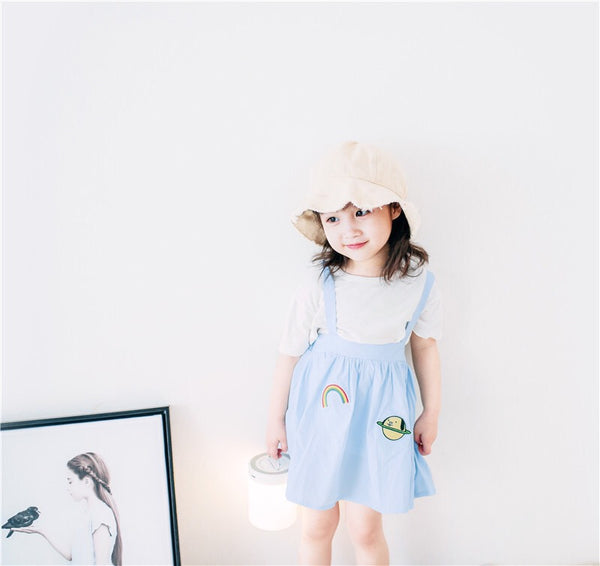 1-8Y Girls Embroidery Jumper Dress A20122C