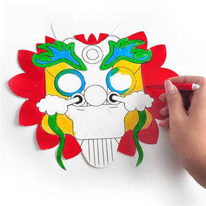 Lunar New Year Art and Craft Lion Dance Mask DIY Pack CNY1011A