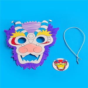 Lunar New Year Art and Craft Lion Dance Mask DIY Pack CNY1011B