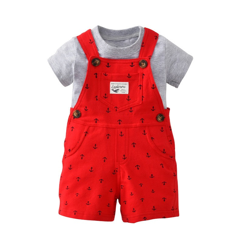 2-Piece Tee & Shortalls Set B10111A
