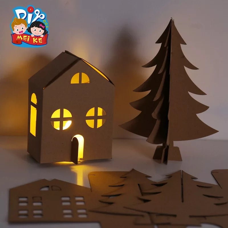 Make your own Christmas Lighting House DIY Set XM1031E