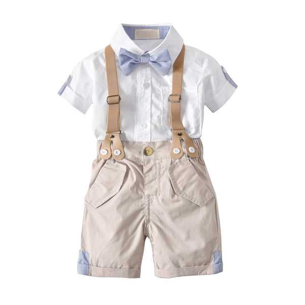 4-Piece Top and Bottom with Adjustable Suspender and Bow Ties Set B10211A