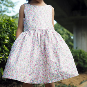 2-8Y Girls Elegant Floral Dress G20132J