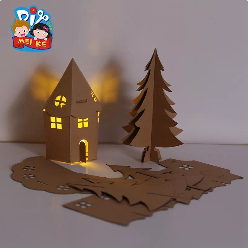 Make your own Christmas Lighting House DIY Set XM1031B