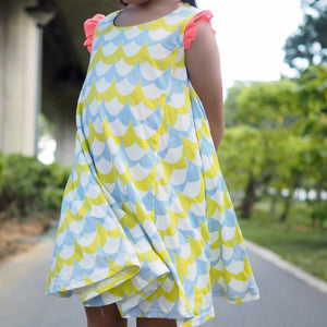 2-10Y Girls Korea Pattern Dress A20134H