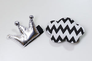 100% Handmade Kids Crown and Cloud Hairclips Set A323G81D