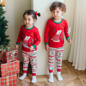 2-8Y Kids Christmas Pyjamas 2pcs Set A40421F