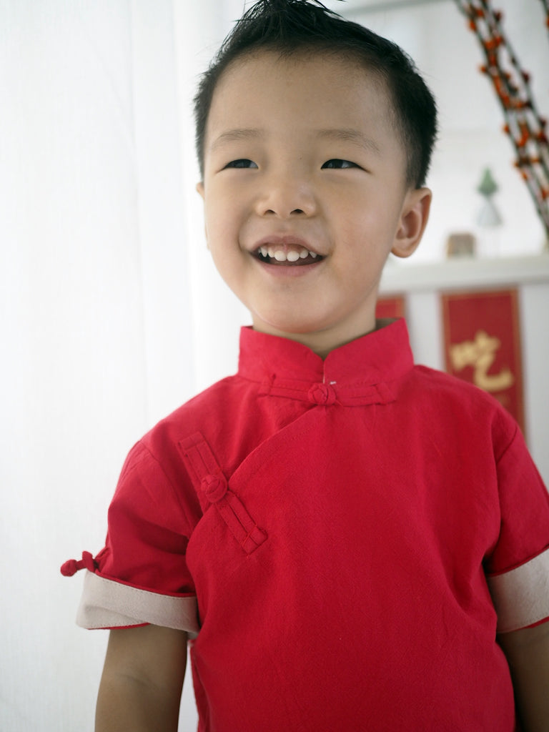 2-12Y Boys Kungfu Top and Bottom 2pcs Set A100C41N