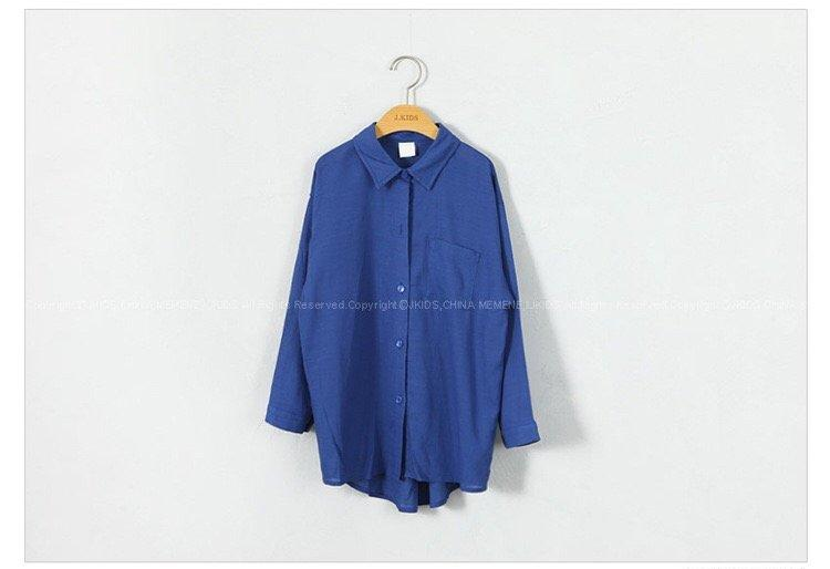 3-15Y Girls Blue Shirt G2104D (Mother size available)