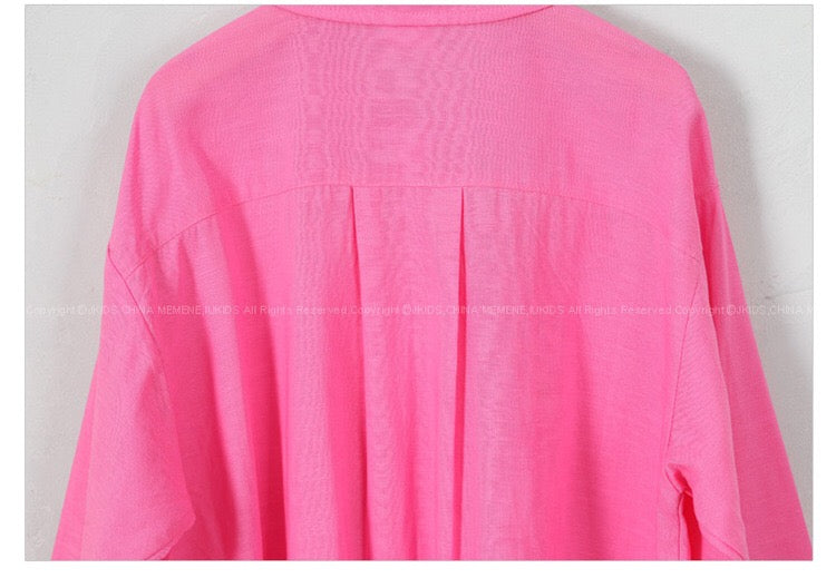 3-15Y Girls Pink Shirt G2104E (Mother size available)