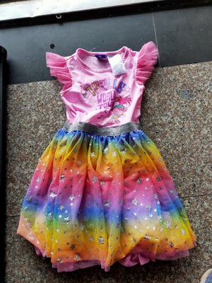 Girls Trolls Rainbow Tulle Dress A20137J