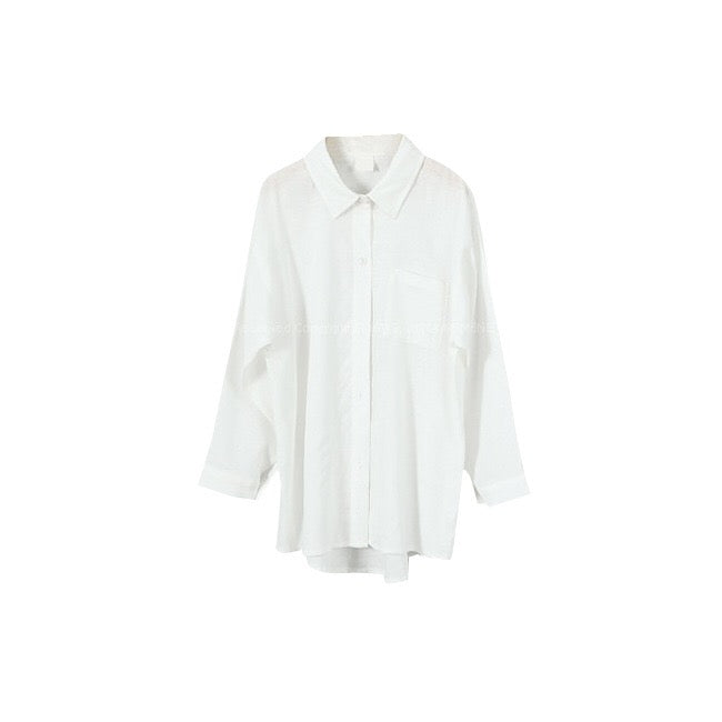 3-15Y Girls White Shirt G2104C (Mother size available)