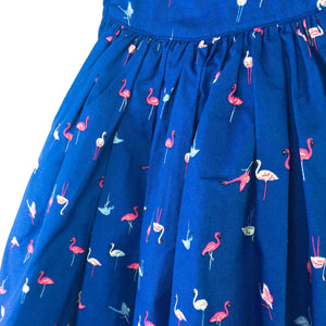 0-2Y Girls Flamingo Dress with Lining A40611H