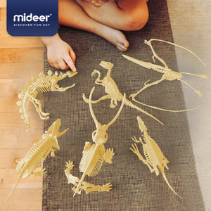 Mideer Assorted Dinosaur Skeleton Toy Figures MD2020