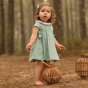 1-3Y Girls Elegant Dress & Bloomer 2pcs Set G20125C